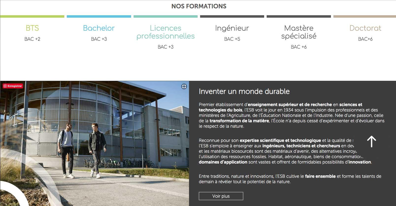 ESB Nantes formations